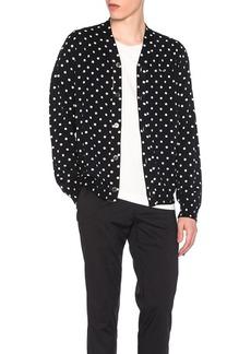 Comme des Garçons Comme Des Garcons PLAY Dot Print Wool Cardigan with Black Emblem