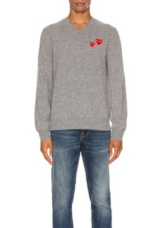 Comme des Garçons Comme Des Garcons PLAY Multi Heart Pullover Sweater