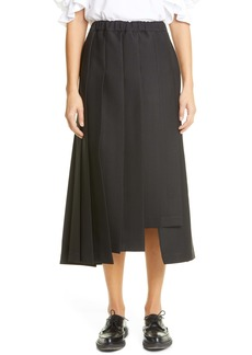 Comme des Garçons Asymmetrical Pleated Skirt