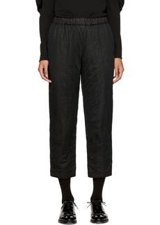 Comme des Garçons Black Nylon Padded Trousers