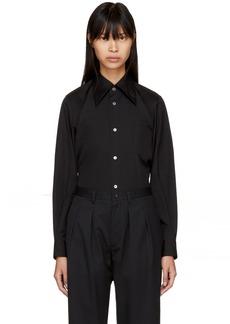 Comme des Garçons Black Pointed Collar Shirt