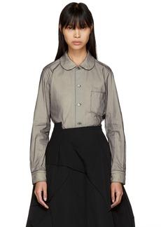 Comme des Garçons Black Sheer Layer Shirt