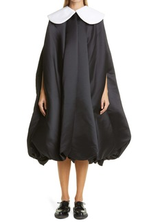 Comme des Garçons Black x White Satin Dress