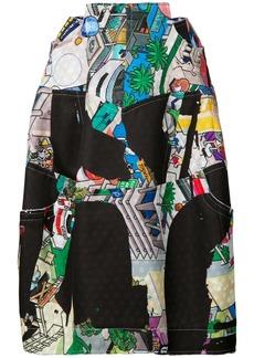 Comme Des Garçons cartoon print skirt - Multicolour