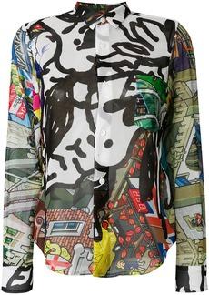 Comme Des Garçons cityscape print shirt - Multicolour