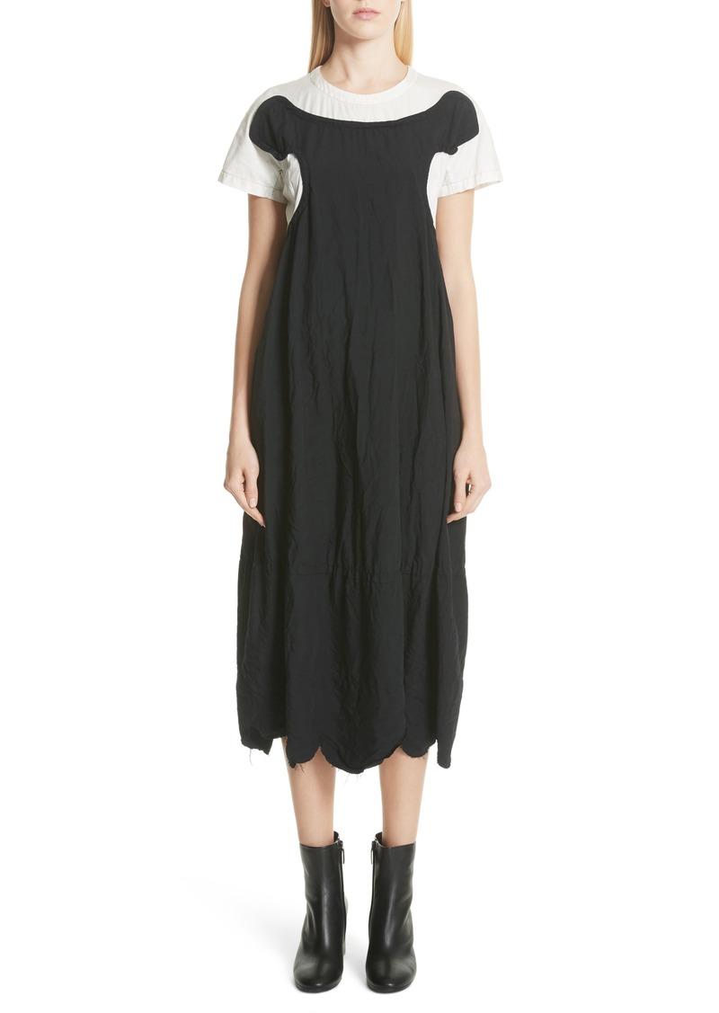 Comme des Garçons Colorblock Midi Dress