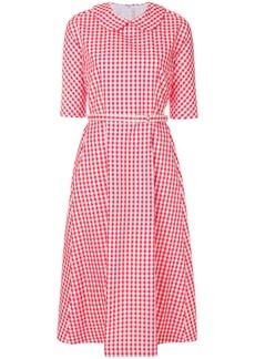 Comme Des Garçons Comme Des Garçons belted vichy dress - Red