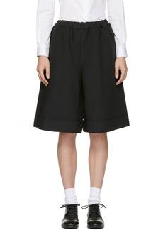 Comme des Garçons Comme des Garçons Black Oversized Cuffed Shorts