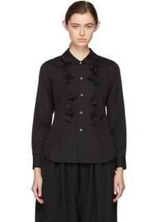 Comme des Garçons Comme des Garçons Black Ruffled Shirt