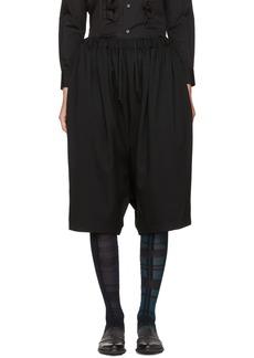 Comme des Garçons Comme des Garçons Black Wide-Leg Cropped Trousers