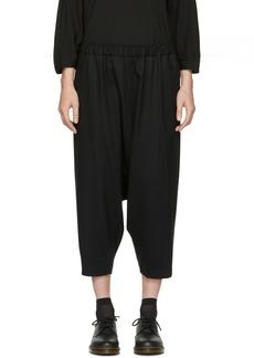 Comme des Garçons Comme des Garçons Black Wool Drop Drawstring Trousers