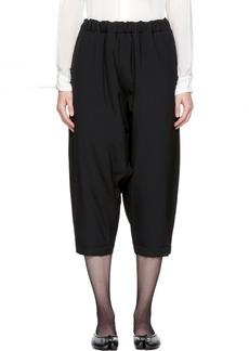 Comme des Garçons Comme des Garçons Black Wool Padded Cropped Trousers