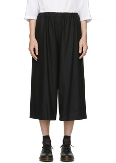 Comme des Garçons Comme des Garçons Black Wool Wide-Leg Trousers