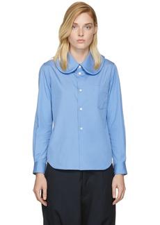 Comme des Garçons Comme des Garçons Blue Rounded Collar Shirt