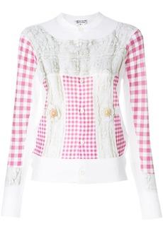 Comme Des Garçons Comme Des Garçons checked buttoned up sweater -
