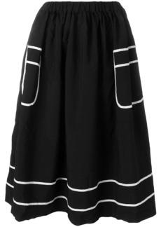 Comme Des Garçons Comme Des Garçons contrast trim midi skirt - Black