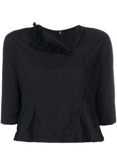 Comme Des Garçons Comme Des Garçons cropped asymmetrical neck blouse -