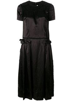 Comme Des Garçons Comme Des Garçons crumpled bow dress - Black