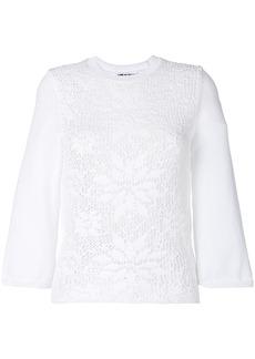 Comme Des Garçons Comme Des Garçons decorative knit top - White