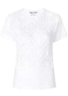 Comme Des Garçons Comme Des Garçons embroidered fitted top - White