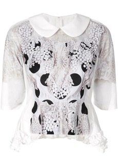 Comme Des Garçons Comme Des Garçons embroidered polka dot blouse -