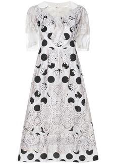 Comme Des Garçons Comme Des Garçons embroidered polka dot dress -