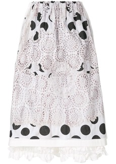 Comme Des Garçons Comme Des Garçons embroidered polka dot skirt -
