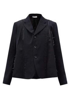 Comme des Garçons Comme des Garçons Flared wool-gabardine and satin suit jacket