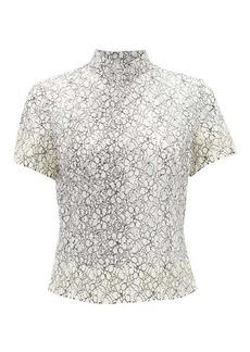 Comme des Garçons Comme des Garçons Floral cotton lace top