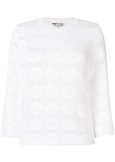 Comme Des Garçons Comme Des Garçons floral crochet top - White