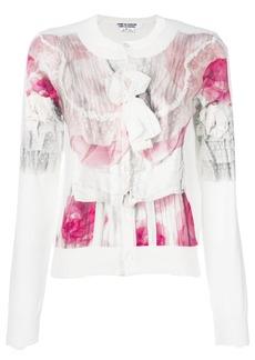 Comme Des Garçons Comme Des Garçons floral print cardigan - White