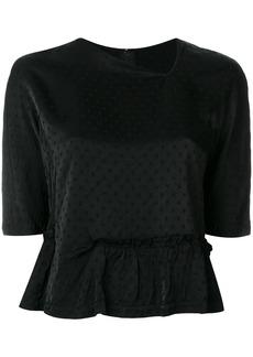 Comme Des Garçons Comme Des Garçons frill hem blouse - Black