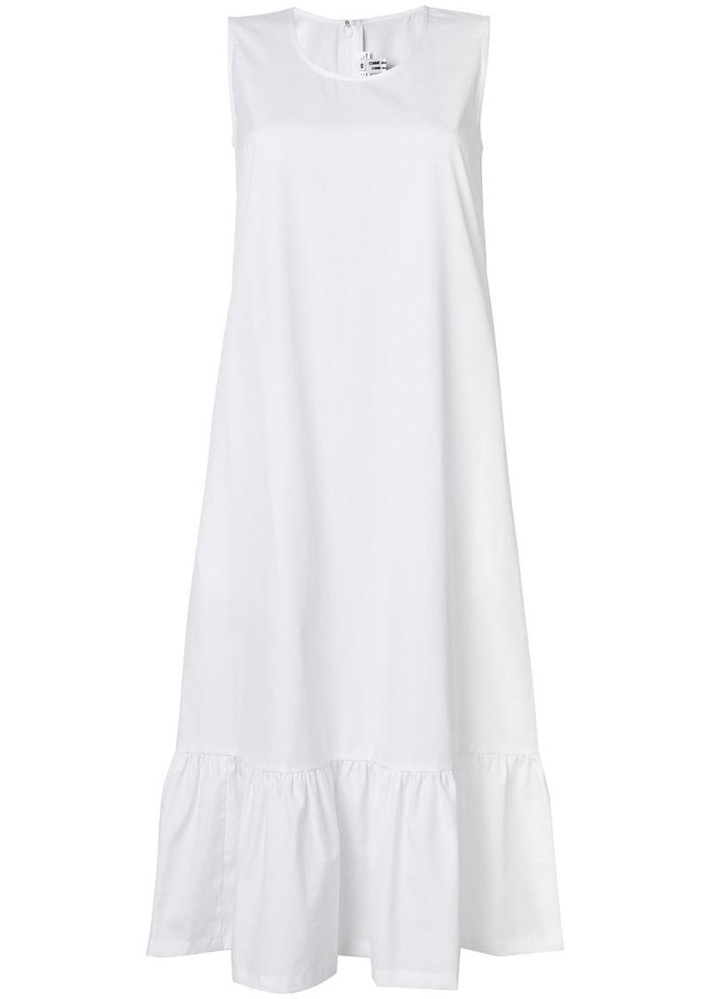 Comme Des Garçons Comme Des Garçons frill hem sleeveless dress - White