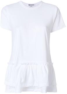 Comme Des Garçons Comme Des Garçons frill hem T-shirt - White