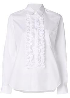 Comme Des Garçons Comme Des Garçons frilled bib shirt - White