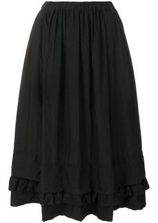 Comme Des Garçons Comme Des Garçons gathered maxi skirt - Black