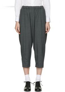 Comme des Garçons Comme des Garçons Grey Cropped Trousers