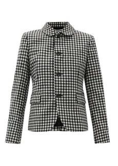 Comme des Garçons Comme des Garçons Gingham-check wool-twill jacket