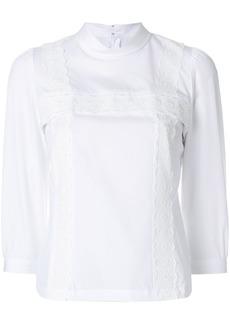 Comme Des Garçons Comme Des Garçons lace detail high-neck blouse -