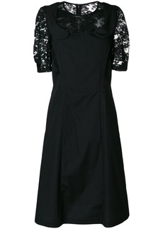 Comme Des Garçons Comme Des Garçons lace insert collared dress - Black