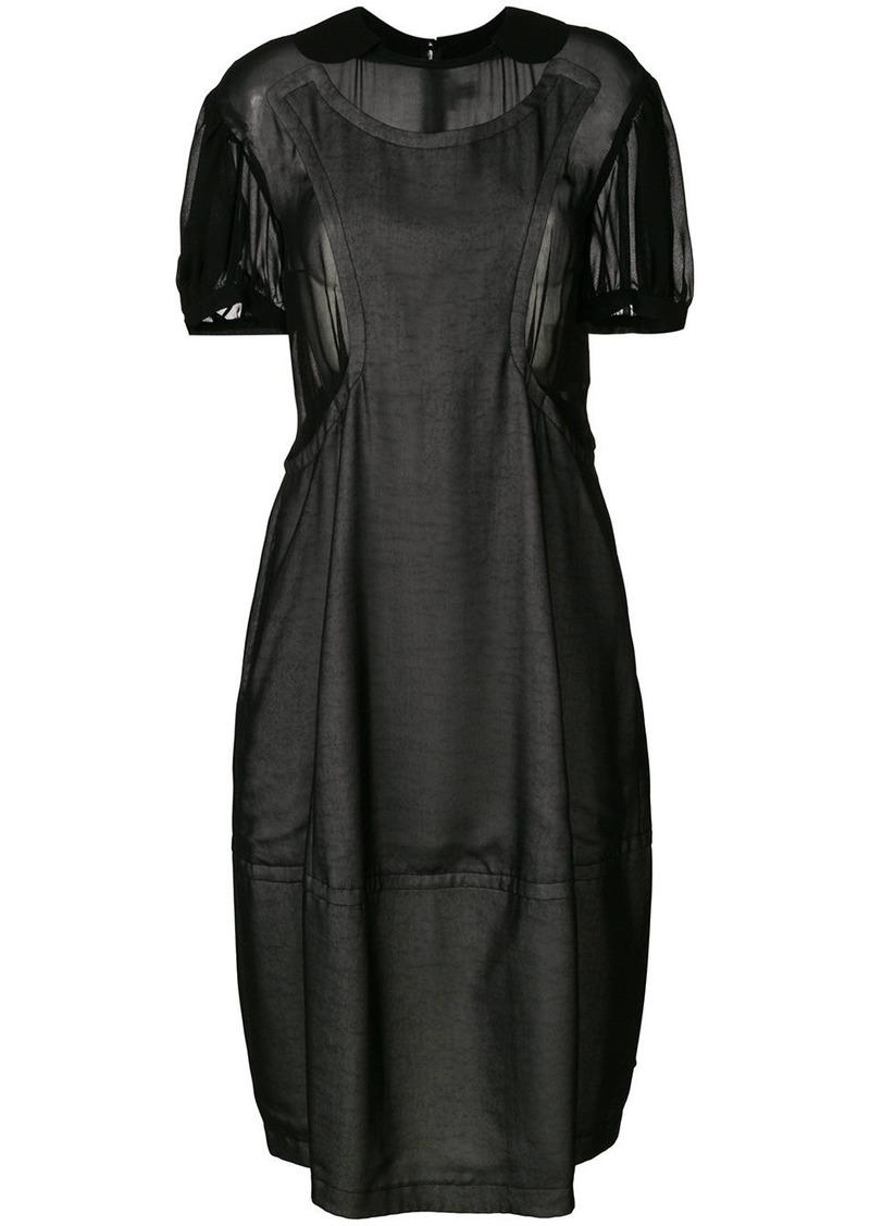 Comme Des Garçons Comme Des Garçons layered T-shirt dress - Black
