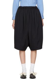 Comme des Garçons Comme des Garçons Navy Wide-Leg Cropped Trousers