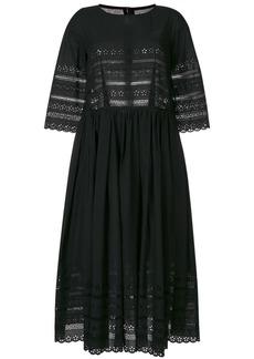 Comme Des Garçons Comme Des Garçons open embroidery midi dress - Black