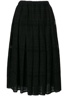 Comme Des Garçons Comme Des Garçons open embroidery midi skirt - Black