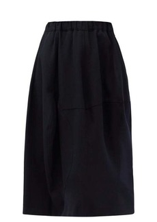 Comme des Garçons Comme des Garçons Panelled wool-gabardine suit skirt