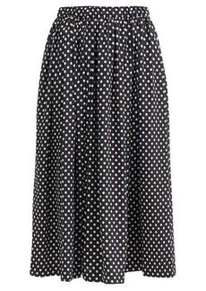 Comme des Garçons Comme des Garçons Pleated polka-dot satin midi skirt