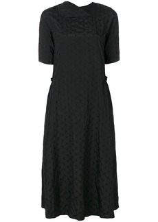 Comme Des Garçons Comme Des Garçons polka dot midi dress - Black