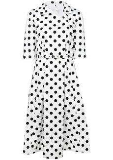 Comme Des Garçons Comme Des Garçons polka dot midi dress - White