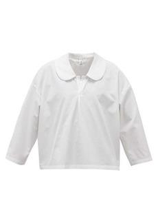 Comme des Garçons Comme des Garçons Round-collar cotton-poplin blouse