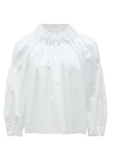 Comme des Garçons Comme des Garçons Ruched cotton blouse